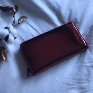 Deux Lux Bags - metallic cherry red wallet / clutch